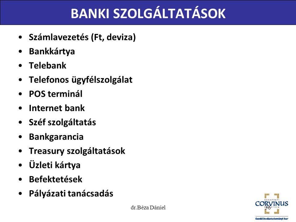 SZÁMLAVEZETÉSI SZOLGÁLTATÁSOK Csoportos beszedési megbízás: –a bank mások bankszámlájáról meghatározott összeget - a megjelölt teljesítési napon - bankszámlája javára beszed.