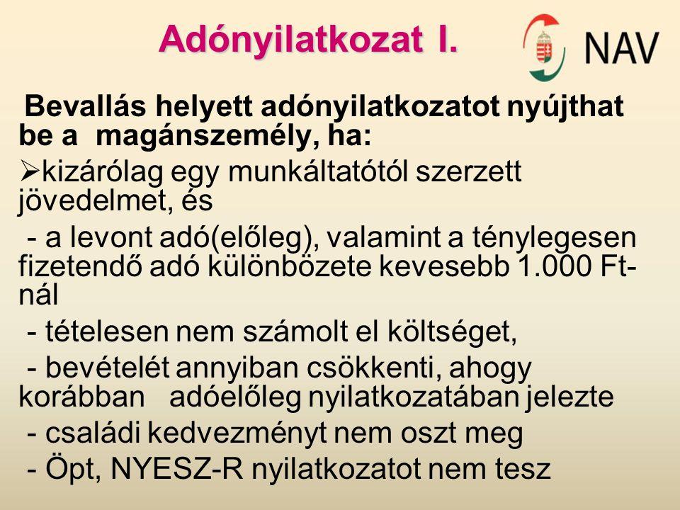 Adónyilatkozat II.
