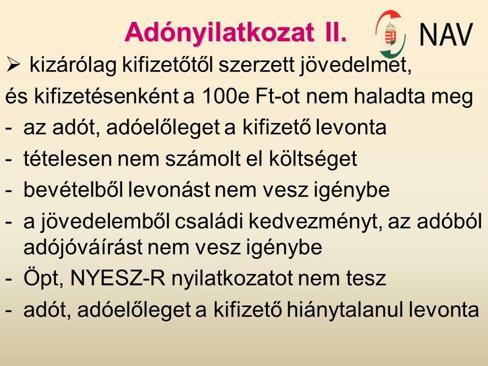 Adónyilatkozat III.