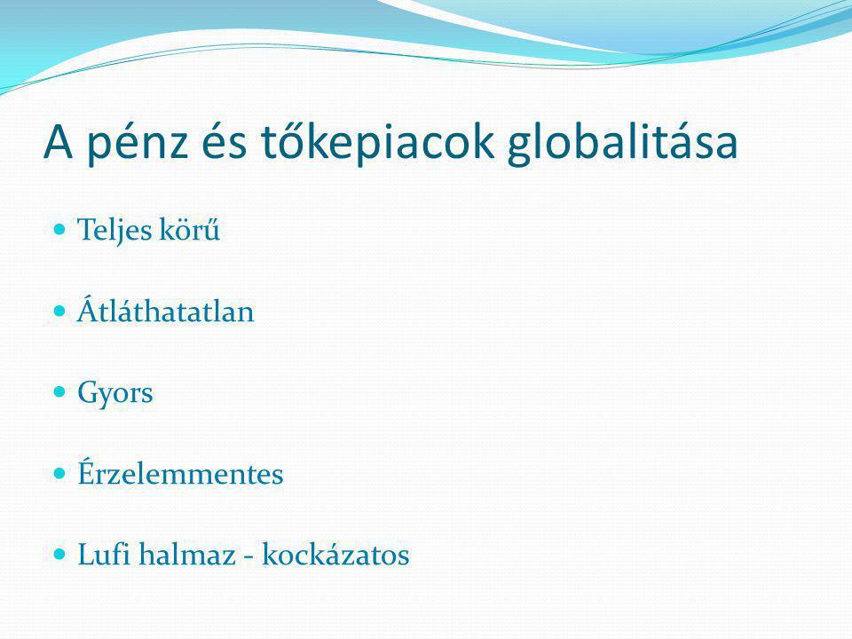 2012. október 1.Vállalatgazdaságtan 4. előadás36 A globalizáció dualitása Nemzetállamok (bürokratikus koordináció) Piacok (piaci koordináció) főszerep