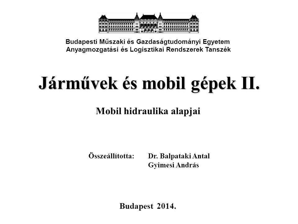 Járművek és mobil gépek II.