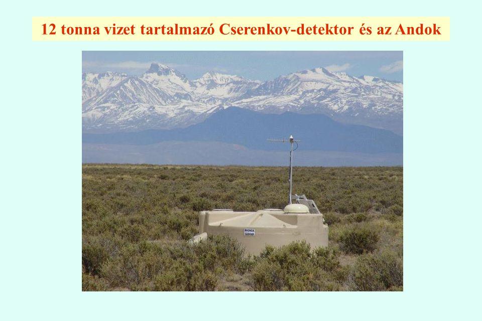 12 tonna vizet tartalmazó Cserenkov-detektor és az Andok