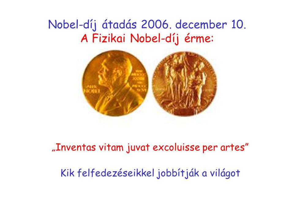 Nobel-díj átadás 2006.december 10.