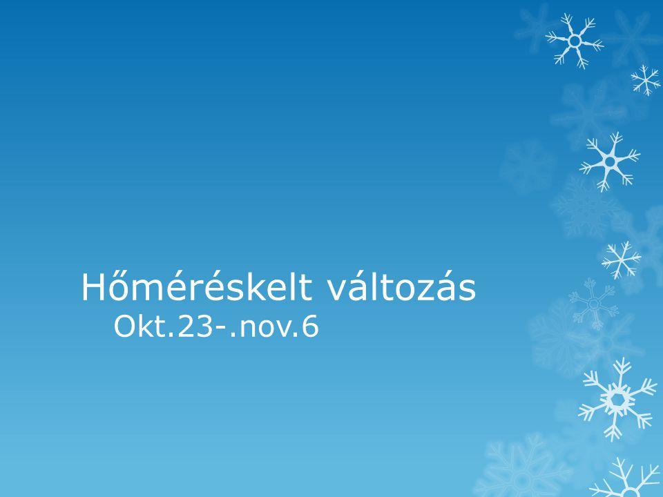 Hőméréskelt változás Okt.23-.nov.6