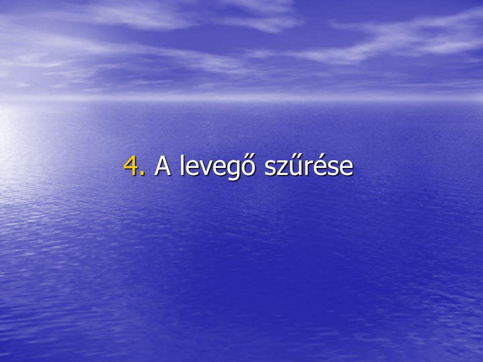 4. A levegő szűrése