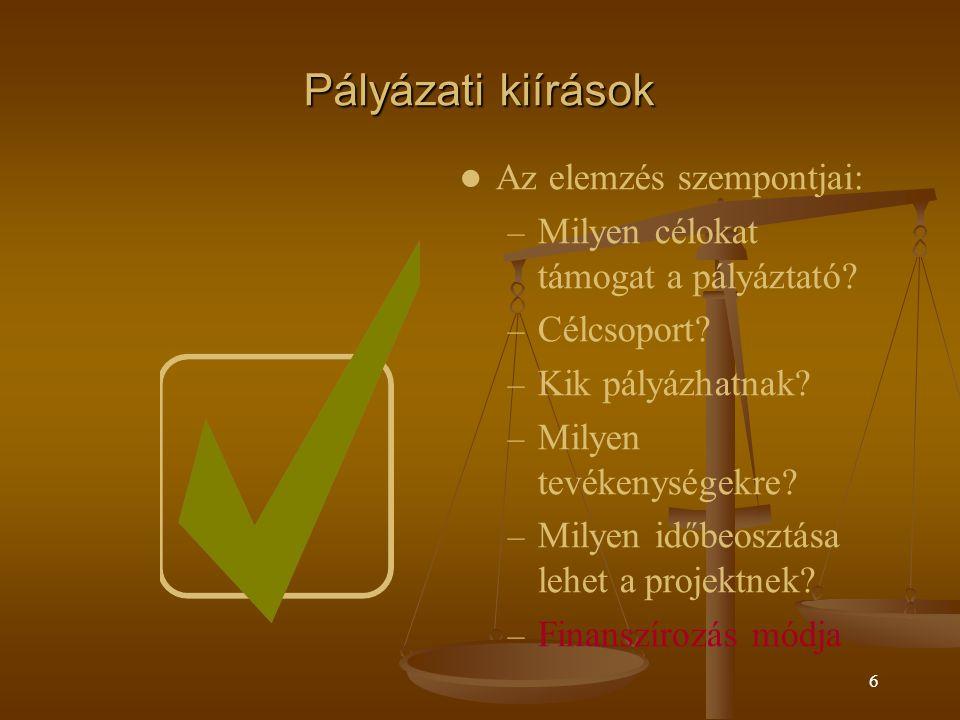 5 Projekttervezés fő lépései Probléma meghatározása/elemzése Célterületünk analízise (Swot) Célterületünk analízise (Swot) Probléma analízis Probléma analízis Probléma fa Probléma fa Cél analízis Cél analízis Stratégiai analízis Stratégiai analízis Logikai keretmátrix
