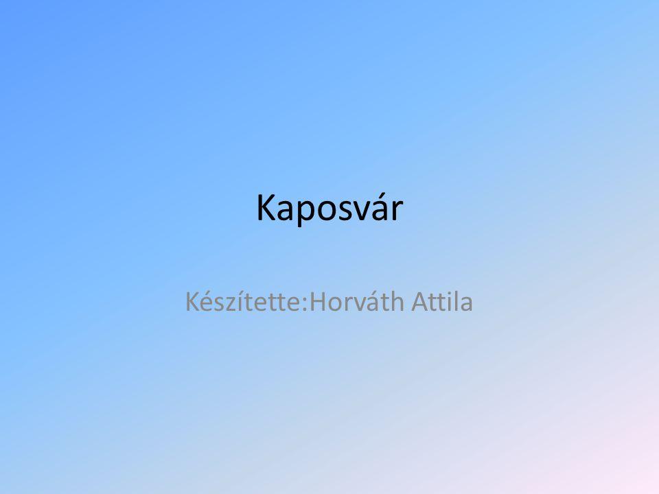 Kaposvár Készítette:Horváth Attila