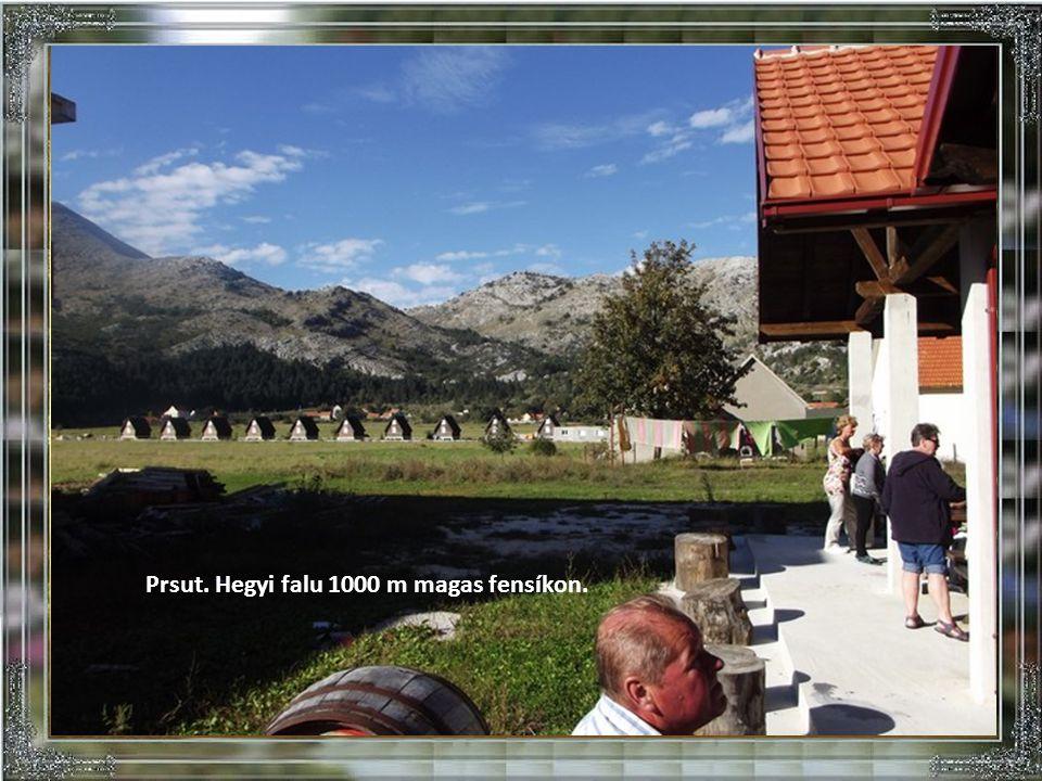 A képen balra a Tivati öböl. Jobra Kotor városa az öböllel.