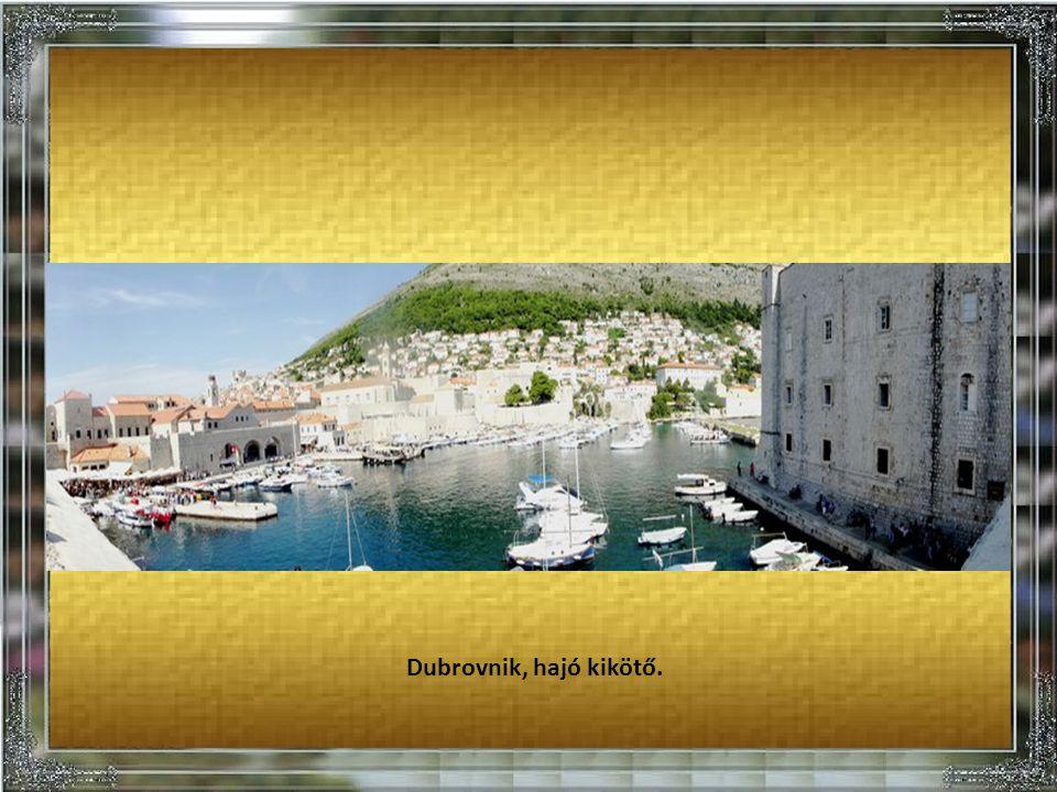 Dubrovnik. Létrajáró a templom csúcsára.