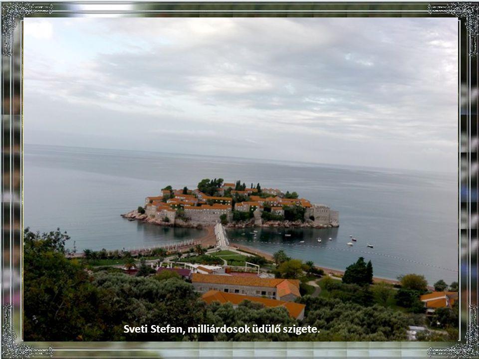 Sveti Stefan, milliárdosok üdülő szigete.