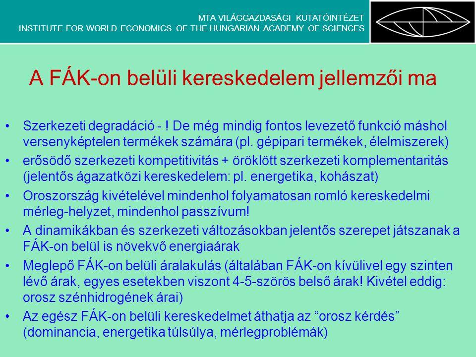 MTA VILÁGGAZDASÁGI KUTATÓINTÉZET INSTITUTE FOR WORLD ECONOMICS OF THE HUNGARIAN ACADEMY OF SCIENCES 1.