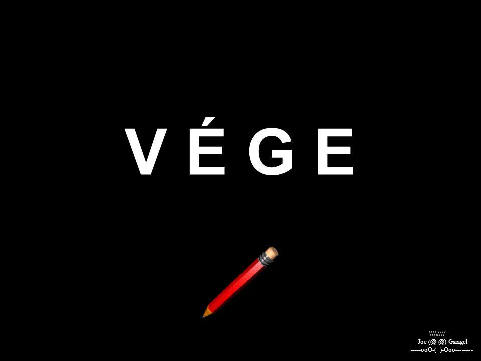 V É G E \\\\//// Joe (@ @) Gangel -----ooO-(_)-Ooo--------
