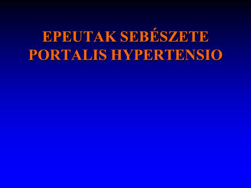 hepaticus encephalopathia – flapping tremor (asterixis) – oedema: apathia, somnolentia, stupor – hepaticus coma SBP: az ascites miatt hospitalizált betegek 10-30%-ában EGYÉB TÜNETEK Foetor hepaticus Hypogonadismus