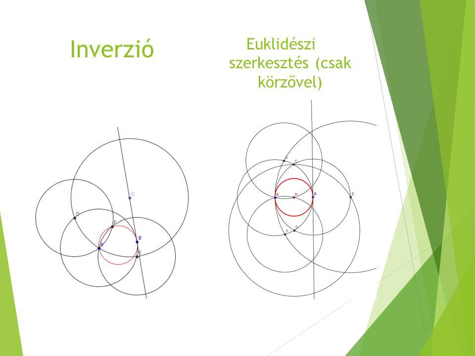 Inverzió Euklidészi szerkesztés (csak körzővel)