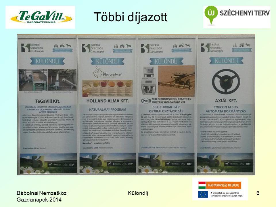 Többi díjazott Bábolnai Nemzetközi Gazdanapok-2014 Különdíj6