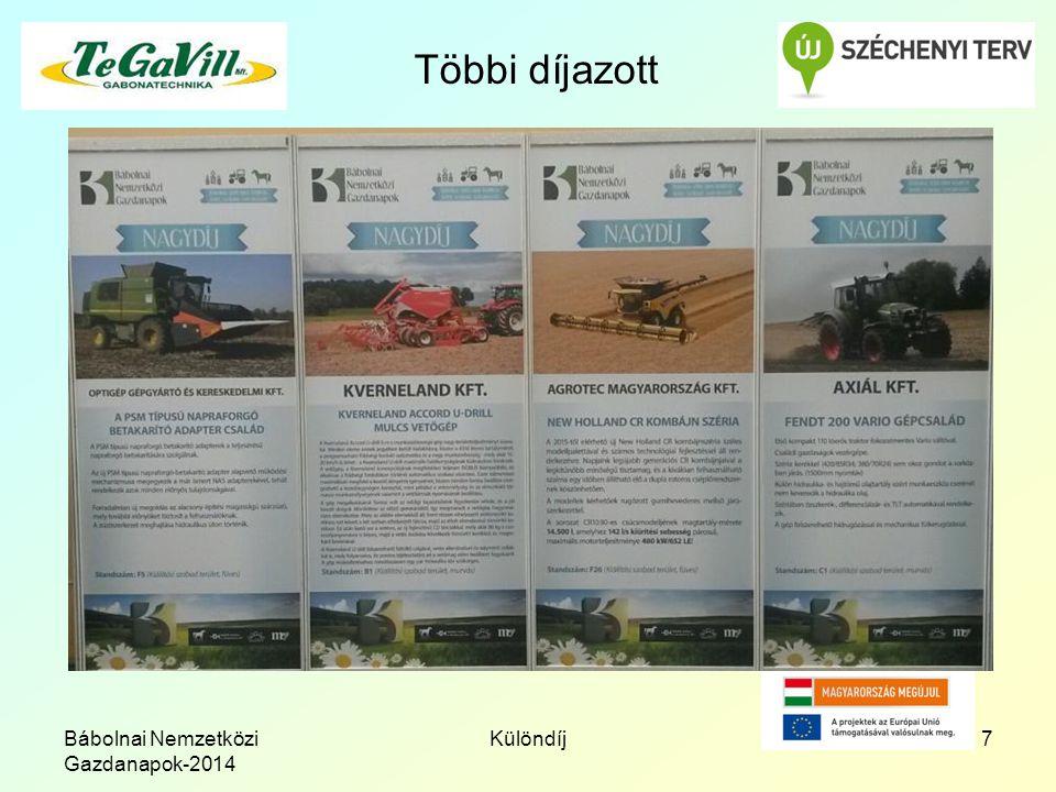 Bábolnai Nemzetközi Gazdanapok-2014 Különdíj7 Többi díjazott