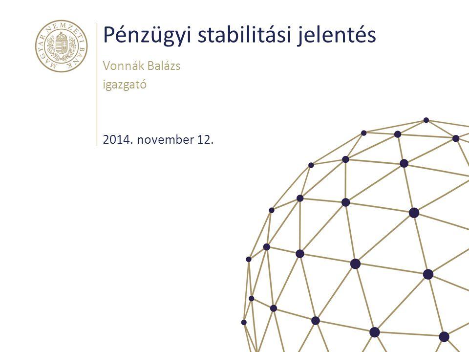 Pénzügyi stabilitási jelentés Vonnák Balázs igazgató 2014. november 12.