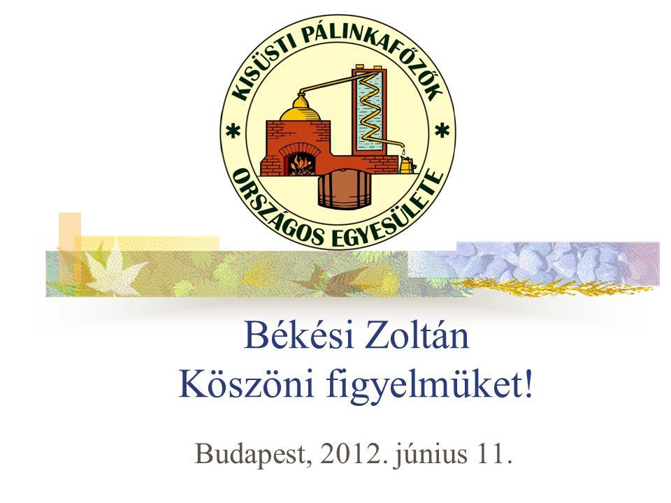 Békési Zoltán Köszöni figyelmüket! Budapest, 2012. június 11.