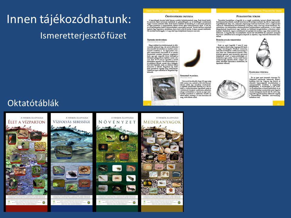 Innen tájékozódhatunk: Ismeretterjesztő füzet Oktatótáblák