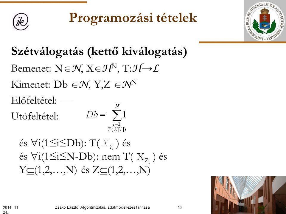 Programozási tételek2014. 11. 24.