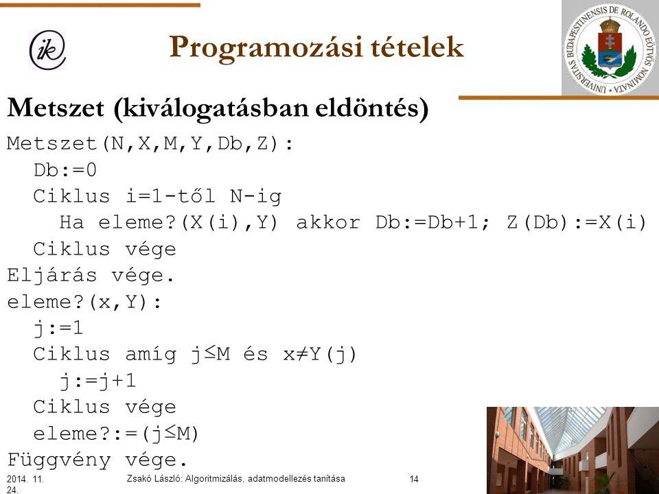 Programozási tételek 2014. 11. 24.