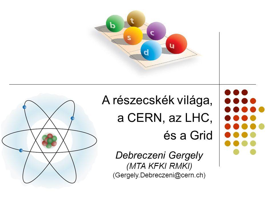 Alapvető kölcsönhatások - bozonok Az erőket részecskék közvetítik: Elektromágneses: foton Erős: gluonok Gyenge: W és Z bozonok Gravitációs: graviton ???.