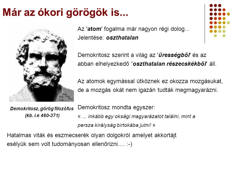 Már az ókori görögök is...Demokritosz, görög filozófus (kb.