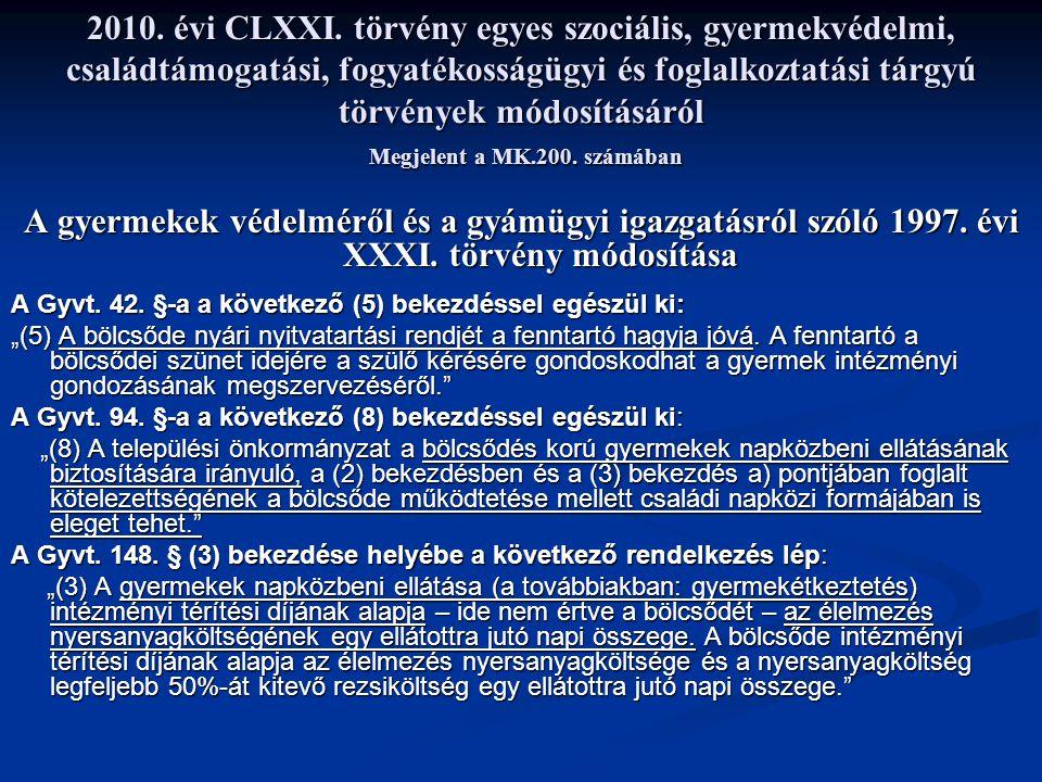 2010.évi CLXXI.