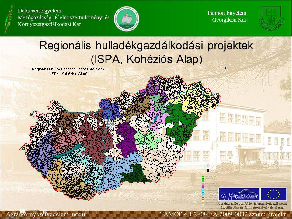 Regionális hulladékgazdálkodási projektek (ISPA, Kohéziós Alap)