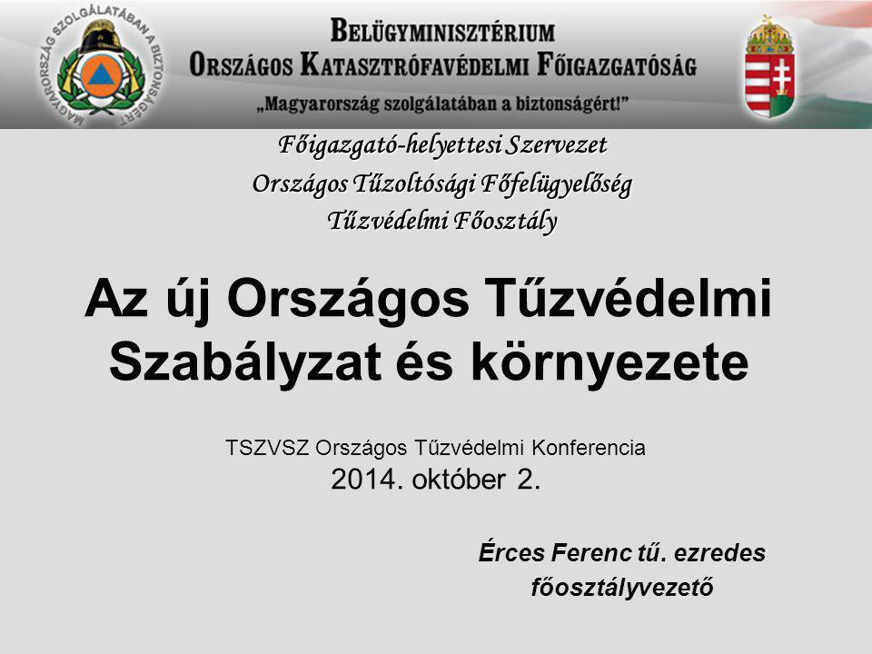 Az új Országos Tűzvédelmi Szabályzat és környezete Érces Ferenc tű.