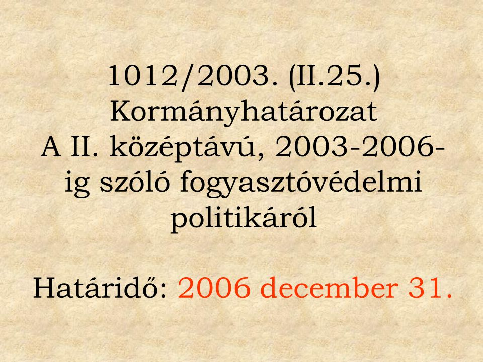 Feladatterv a Kormány II.
