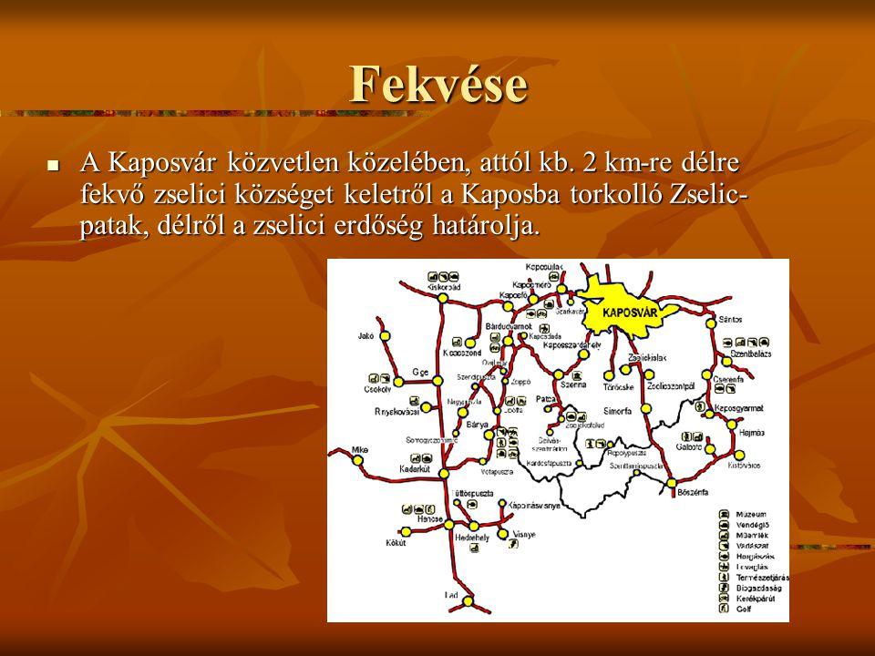Fekvése A Kaposvár közvetlen közelében, attól kb.