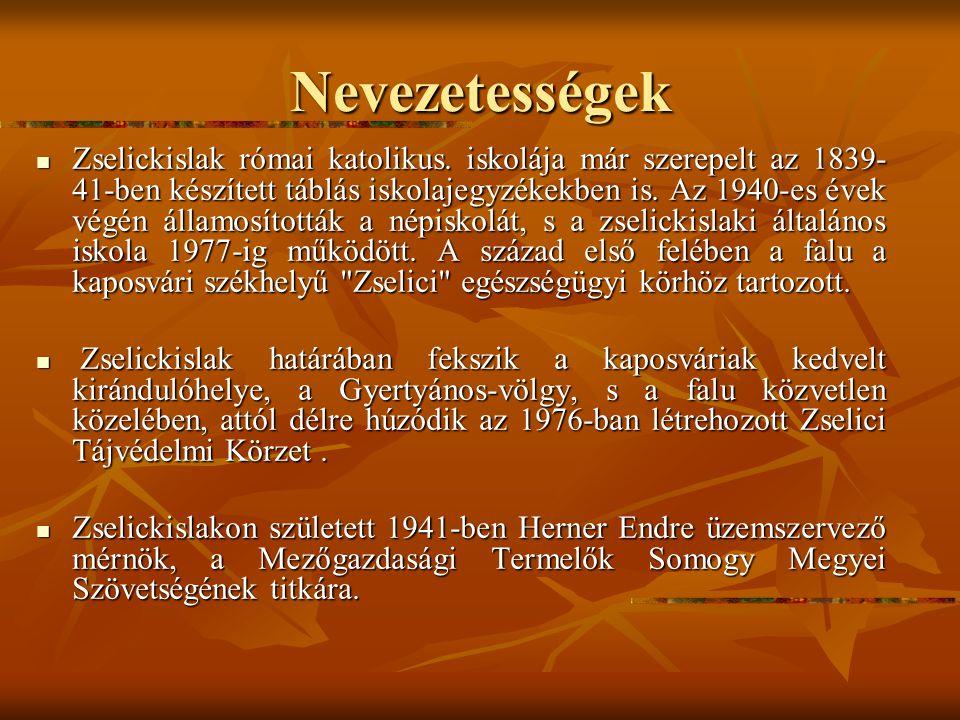 Történet II. Zselickislak 1990-ig Zselickislak 1990-ig A kivándorlási hullám Zselickislakot is elérte: 1880 és 1890 között. A kivándorlási hullám Zsel