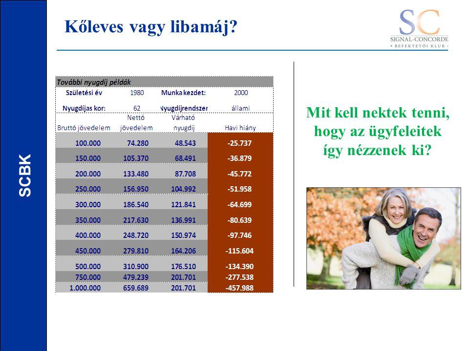 SCBK Mit kell nektek tenni, hogy az ügyfeleitek így nézzenek ki Kőleves vagy libamáj