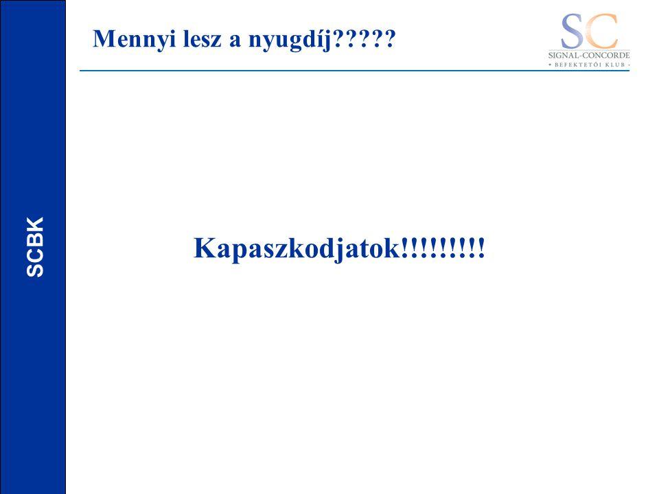 SCBK Mennyi lesz a nyugdíj Kapaszkodjatok!!!!!!!!!