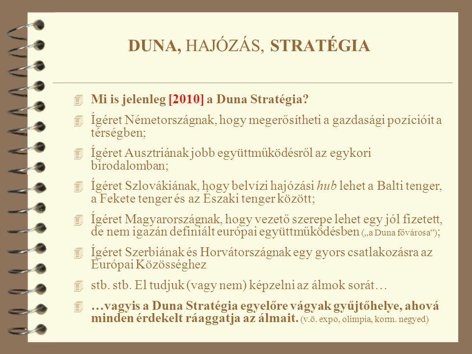 4 Mi is jelenleg [2010] a Duna Stratégia.