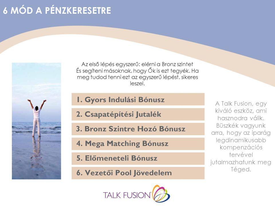 6 MÓD A PÉNZKERESETRE A Talk Fusion, egy kiváló eszköz, ami hasznodra válik.