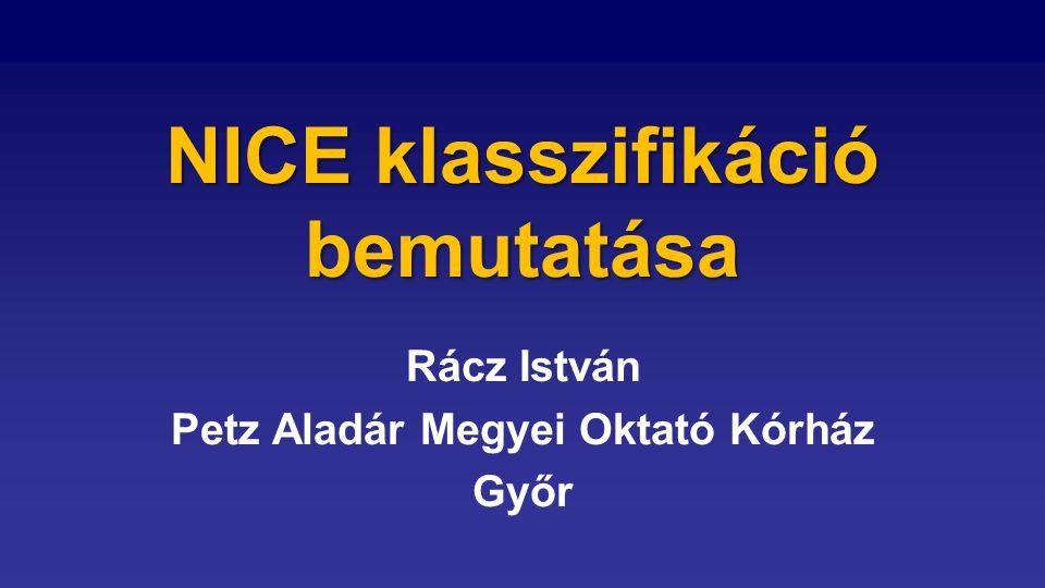 NICE klasszifikáció bemutatása Rácz István Petz Aladár Megyei Oktató Kórház Győr