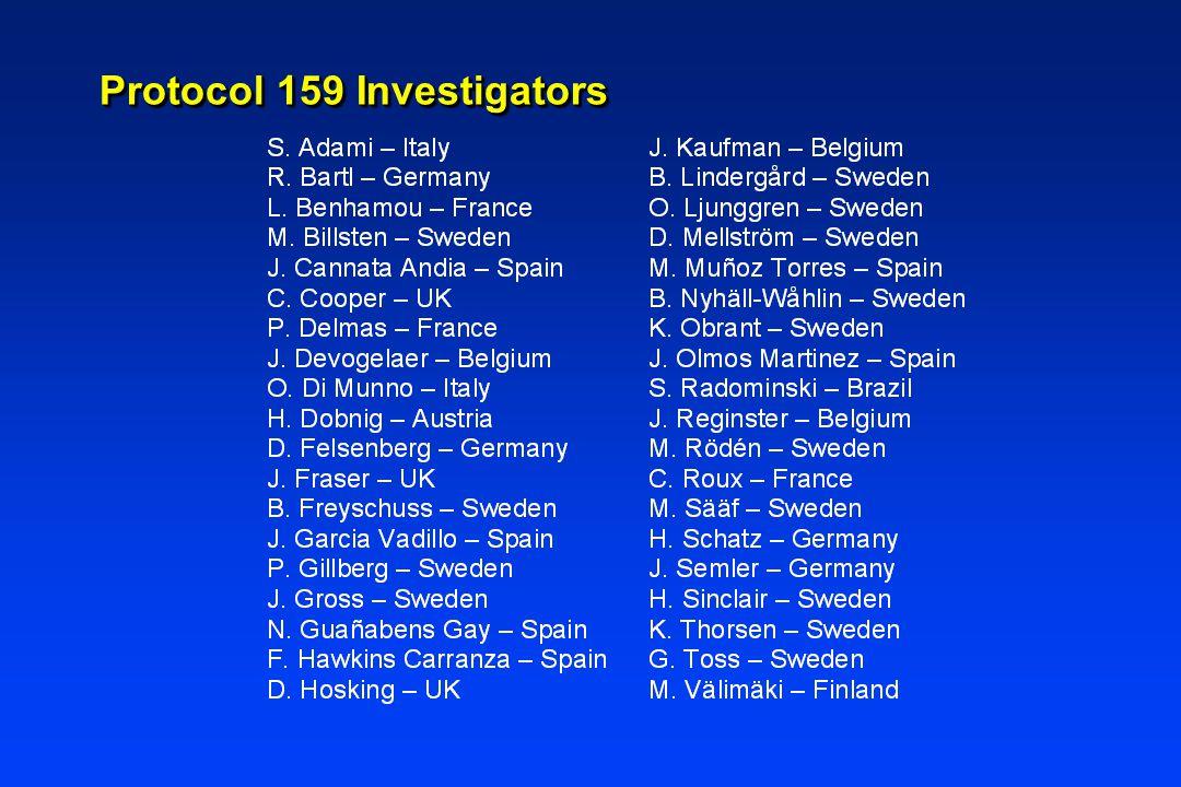 Protocol 159 Investigators