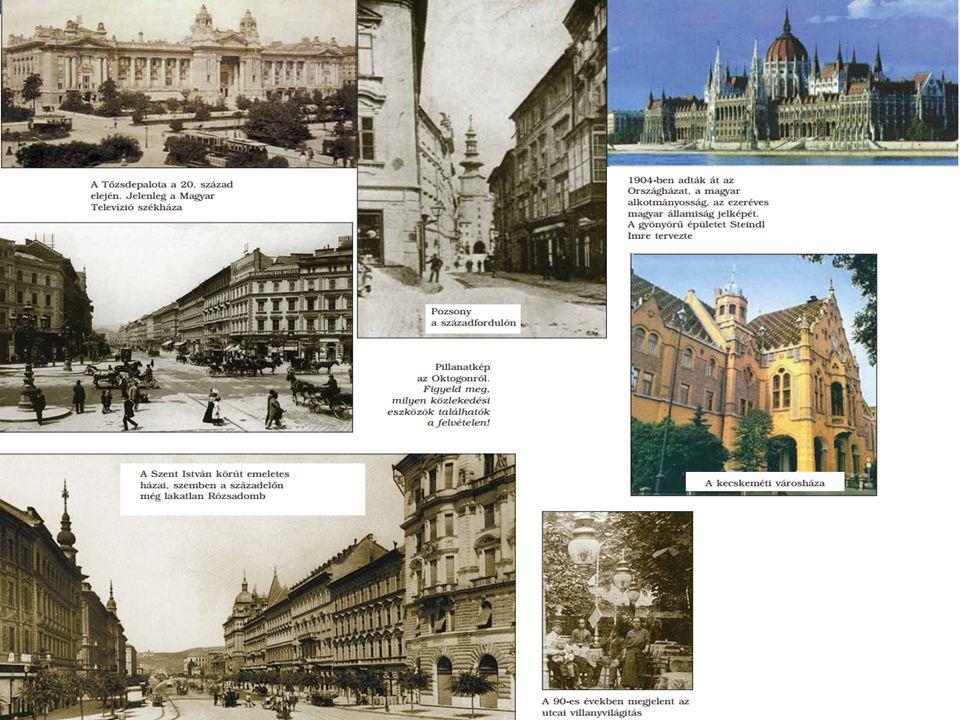 """A város központja Buda, Pest és Óbuda lakosságának száma az átlagosnál is jobban növekedett, 1873-ban """"Budapest főváros néven egyesült a három város."""