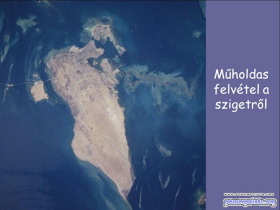 Műholdas felvétel a szigetről