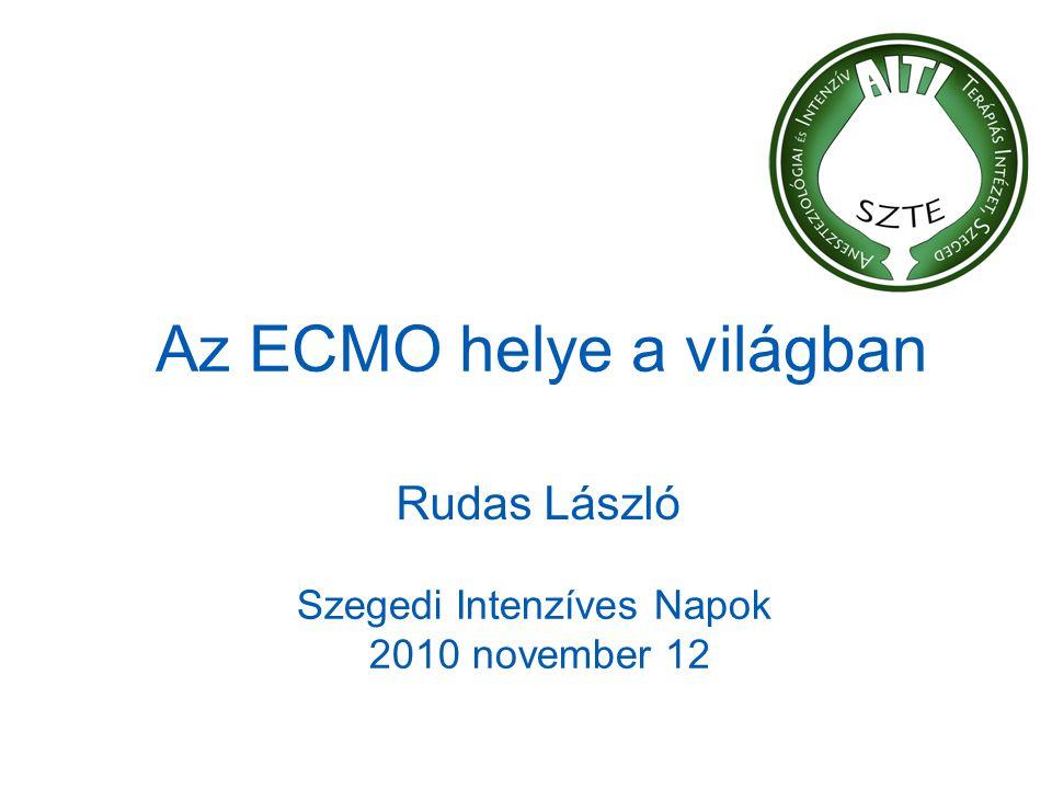 Az ECMO helye a világban Rudas László Szegedi Intenzíves Napok 2010 november 12