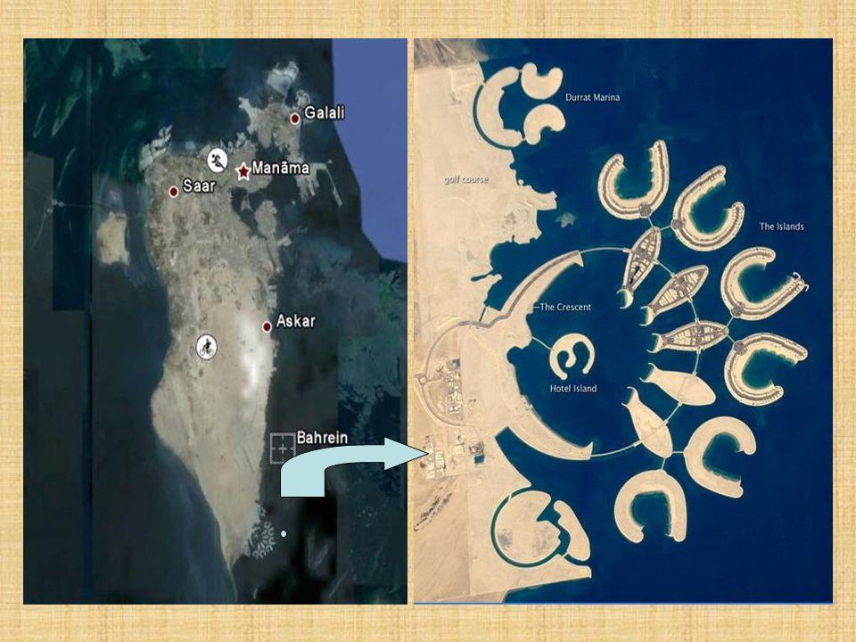 A Durrat Al Bahrain új szigetváros, nagyobb az eddig épített összes bahreini mesterséges szigetkomplexumnál, és 14 szigettel, összesen 21 négyzetkilométerrel toldja meg a királyság területét.