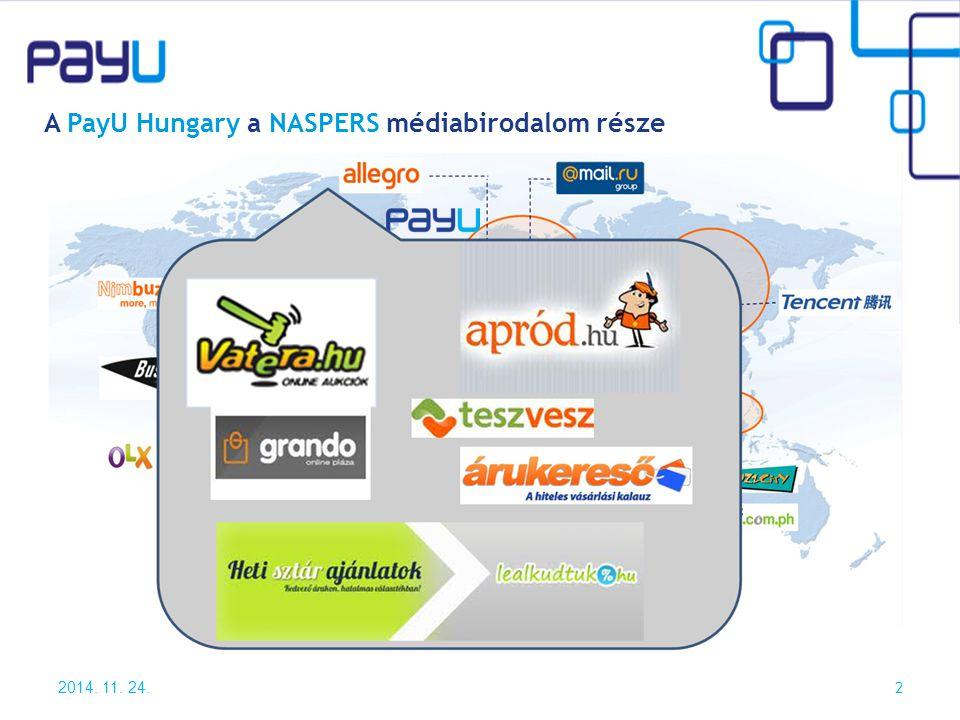 2014. 11. 24. 2 A PayU Hungary a NASPERS médiabirodalom része