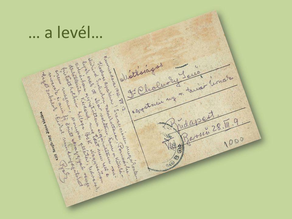 … a levél…