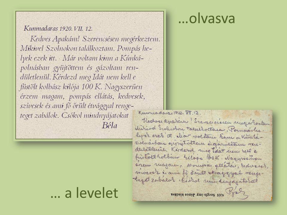 …olvasva … a levelet