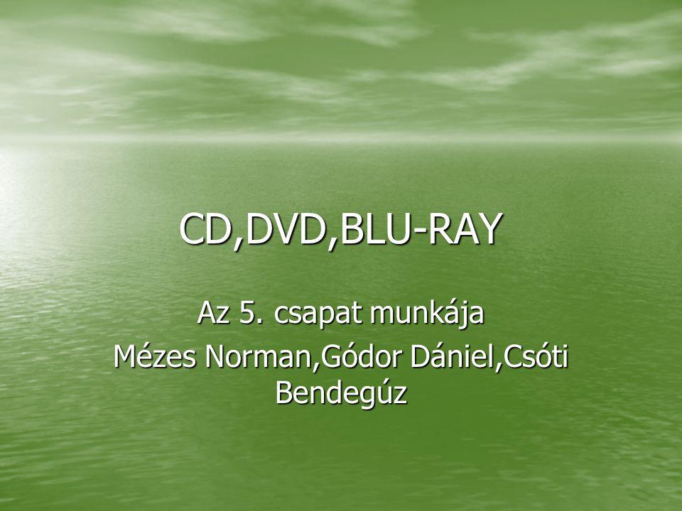 CD,DVD,BLU-RAY Az 5. csapat munkája Mézes Norman,Gódor Dániel,Csóti Bendegúz