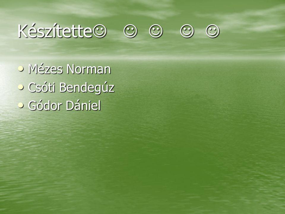 Készítette Készítette Mézes Norman Mézes Norman Csóti Bendegúz Csóti Bendegúz Gódor Dániel Gódor Dániel