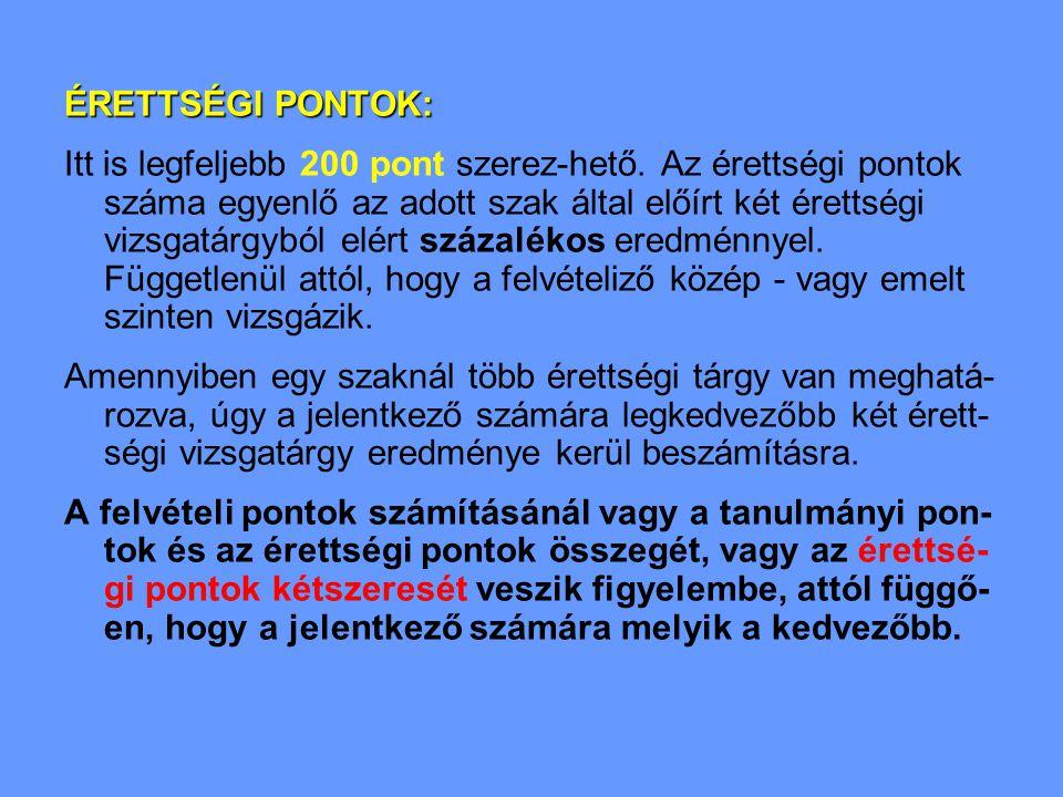 Közgazdaságtudományi szakok rangsora (I.)