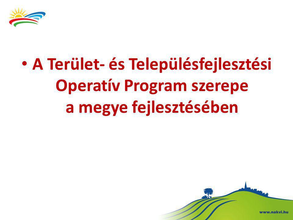 A Terület- és Településfejlesztési Operatív Program szerepe a megye fejlesztésében